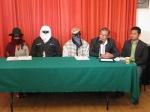Conferencia de Prensa Piden Familiares la Liberación de los 45 Detenidos de la Guardia Comunitaria de Aquila Michoacán
