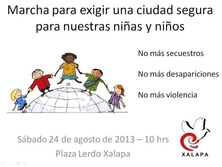 Marcha para las niñas y niños
