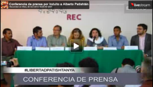 Conferencia de Prensa-Por la Libertad del Profesor Alberto Patishtán