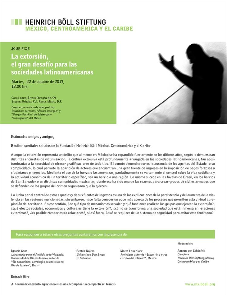 Jour Fixe- %22La extorsión, el gran desafío para las sociedades latinoamericanas %22
