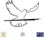 Paloma pluma con logos