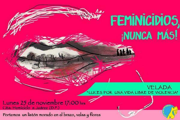 cartel feminicidios nunca mas
