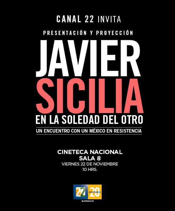 cartel Javier sicilia la soledad del otro