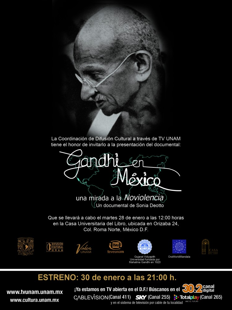 GANDHI EN MEXICO_CARTEL