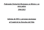 Informe Sombra Pederastia Clerical de Mexicanos en México y en otros países 1944-2013