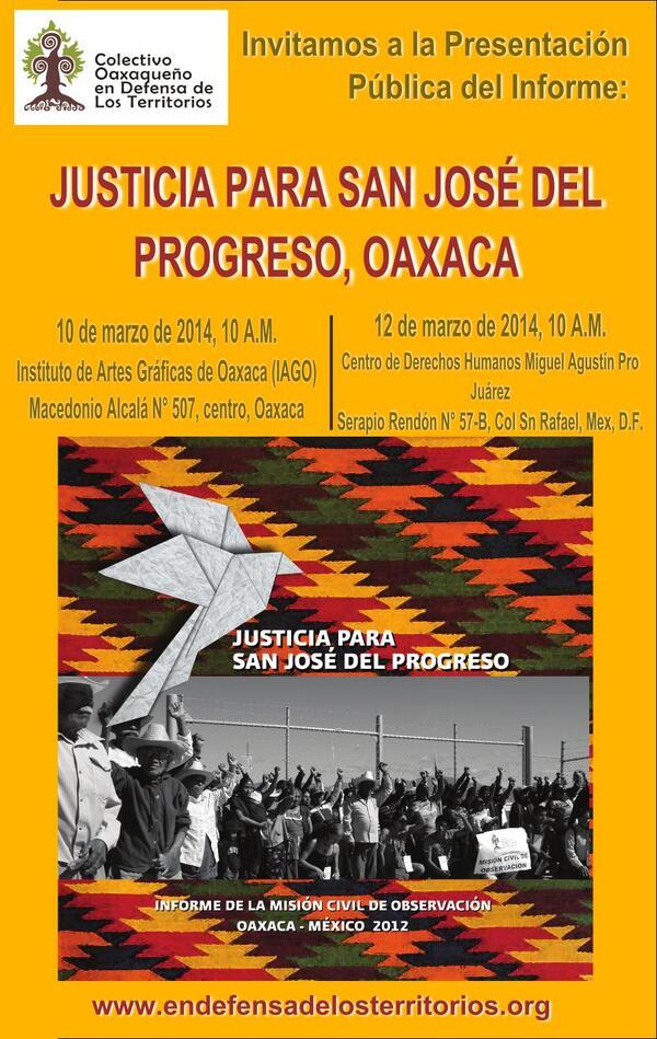 Presentación del Informe- Justicia para San José del Progreso